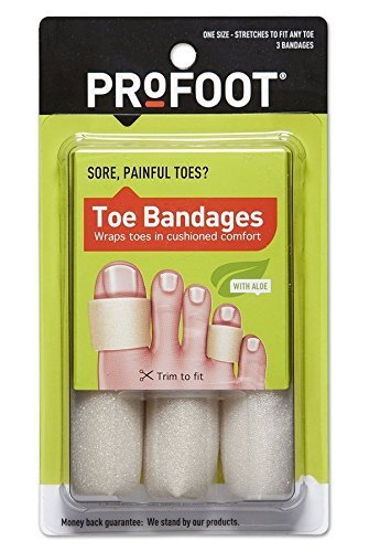 ProFoot Toe Bandages One Size 3 EA - Buy Packs and SAVE (Pack of 6)