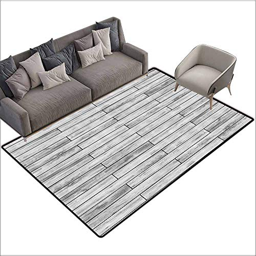 Taupe Kashan Rug - Carpet for Living Room Taupe,Picture of a Parquet Grey Wood Texture Rusty Retro Antique Aged Display Striped Tile,Taupe Grey 80