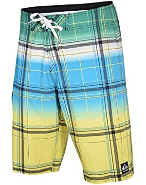 Men's Boardshorts Cypher Wonderland Blue Green Yellow Plaid