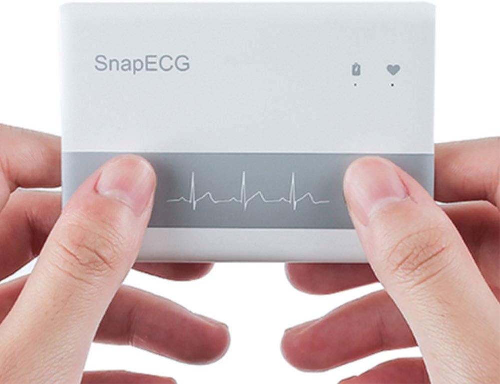 DZWJ Monitor de ECG, Monitores de Ritmo cardíaco de ECG de Mano para teléfonos Inteligentes, Bluetooth 4.0 Soporte Mini Tarjeta de electrodo de electrodo Holter