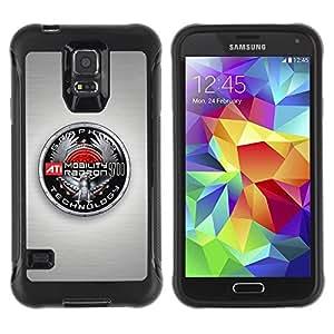 """Hypernova Defender Series TPU protection Cas Case Coque pour Samsung Galaxy S5 V [Insignia Gráficos""""]"""