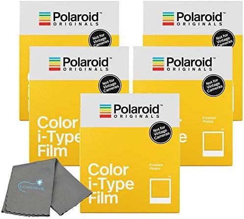 Polaroid Originals インスタントカラーフィルム iタイプカメラ用 インスタント写真8枚セット Lumintrailクリーニングクロス付き