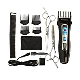 Miserwe Hair clippers Professional Hair Clipper with Hairdressing Cape USB Charger Quiet Barber Clippers for Adult and Baby Cordless Rechargeable haircut clippers with hair comb scissors Haircut Kit