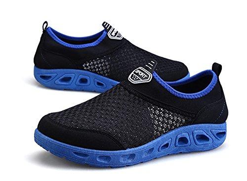 Ginnastica Traspirante Nero Scarpe Donna da Sneakers Sportive Mesh Blu Gaatpot Running 7fXqzg7