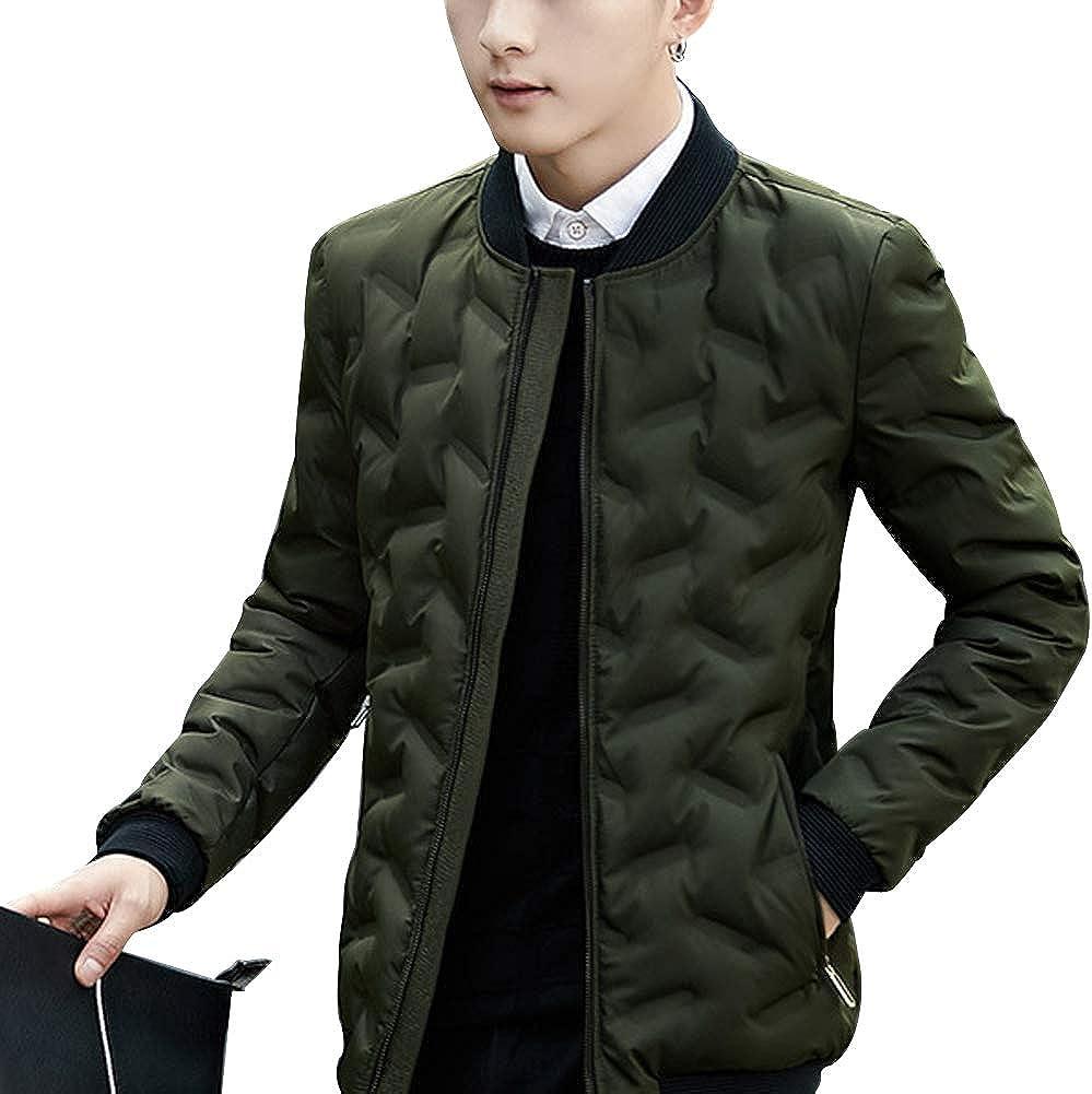 Uirend Winter Warm Down Puffer Jacket Mens Ultra Light Stand Collar Outwear