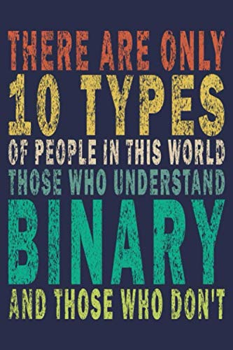 There Are Only 10 Types Of People In This World Those Who Understand Binary And Those Who Don