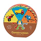 Mudpuppy Construction Deluxe Puzzle Wheel