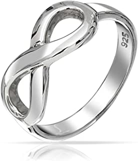 Bling Jewelry Figure 8 Symbole de l'Infini 925 Bague en argent PS-TRI-XXX2-45