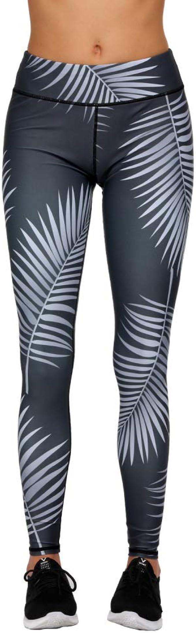 nonbranded Leggings de mujer New Leaf Print Pantalones pitillo de ...