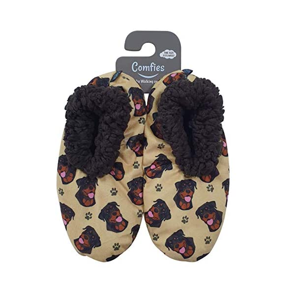 Rottweiler Super Soft Women's Slippers - One Size Fits Most - Cozy House Slippers - Non Skid Bottom - perfect for Rottweiler gifts 1