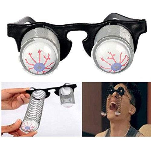 Halloween Costume Party Joke Toy Scary Horror Slinky Pop Out Eye Gag Droopy Eyes Glasses 6 Pairs -
