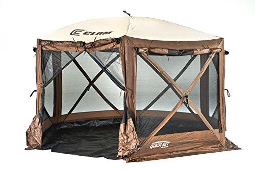 Quick Set 12876 Pavilion Camper Screen Shelter, Brown/Tan (Best Screen Shelter For Camping)