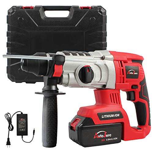 20V Max/18V 1inch SDS-plus Cordless Rotary Hammer Drill, AUTOJARE Brushless Rotary Hammer Drill Kits Includes 3.0Ah Lithium Battery & Charger