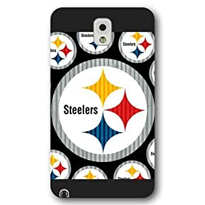 UniqueBox Customized NFL Series Case for Samsung Galaxy Note 3, NFL Team Pittsburgh Steelers Logo Samsung Galaxy Note 3 Case, Only Fit for Samsung Galaxy Note 3 (Black Frosted Shell)