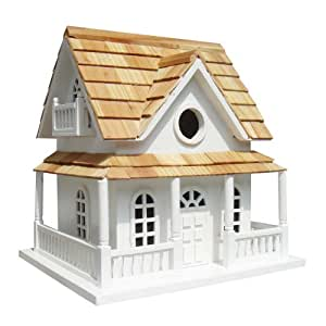 Home Bazaar Cape May Cottage Birdhouse, White