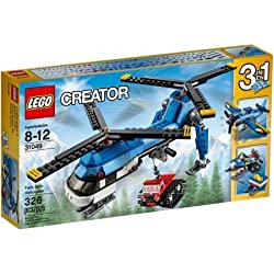 LEGO Creator 31049 3-in1 Twin Spin Helicopter Building Set, Also Includes A Tracked Snowcat Vehicle by LEGO