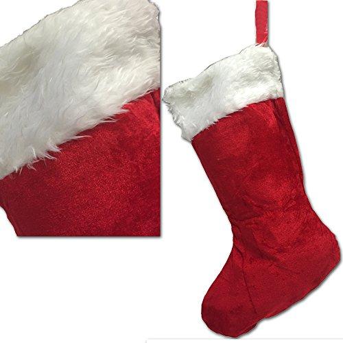 JEMIDI XL Nikolaussocke Weihnachts Socke Nikolaus Stiefel befüllen Strumpf Weihnachten