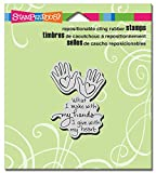 """Stampendous CRH326 N/A Cling Stamp 3.5""""X4""""-Heart Hand"""