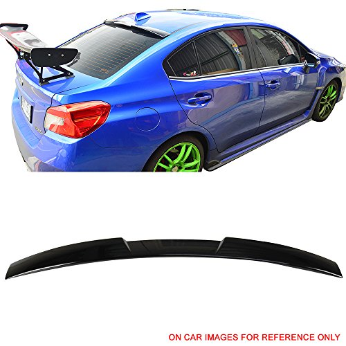 (Pre-painted Roof Spoiler Fits 2015-2019 Subaru Impreza WRX STI | V Style #D4S Crystal Black Silica Pearl ABS Rear Wing Window Roof Top Spoiler other color available by IKON MOTORSPORTS | 2016 2017)