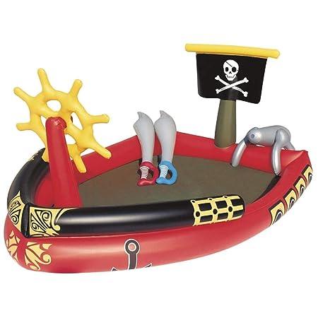 OGAWOO Bote Inflable Pirata con rociador de Agua Cannon Swim ...
