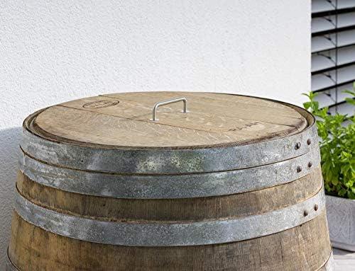 barrica con Madera reacondicionada como dep/ósito para el Agua de Lluvia TEMESSO Barril de Lluvia con Tapa de 225 litros Barril Abierto con Tapa