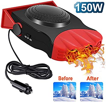 Drtulz 2 in 1 Portable Fast Heating Car Heater