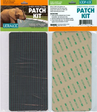 Loop Loc Ultra-Loc Solid Patch Kit For Solid Covers Built 2010 And After - Incls. 3- 4 Inch X 8In Adhesive Transfer Patches For Loop Loc Ultra-Loc Solid Safety Covers Built 2010 And After.