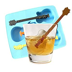 PYD Guitar Shape Ice Cube Tray Drink Stirrers Mode Stirs Cool Music Party Mould