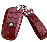 BMW Smart Key Fob Leather Key Remote Case Cover Protector Holder Skin