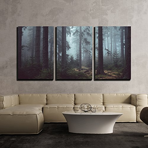 Foggy Pin Forest x3 Panels