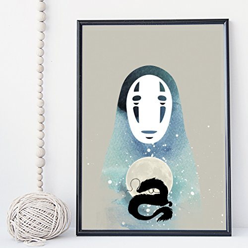 Away Wall Art - Studio Ghibli Miyazaki's Spirited Away wall art print poster - unframed
