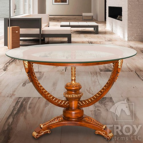 Glass Table Top: 18'' Round, 3/8'' Thick, Pencil Edge, Tempered Glass by Troy Systems LLC (Image #2)