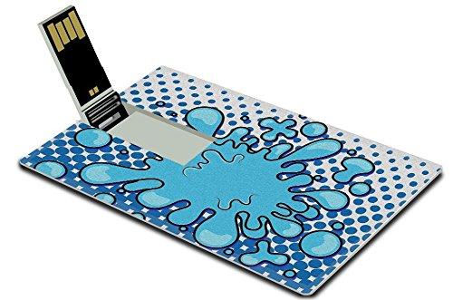 Luxlady 32GB USB Flash Drive 2.0 Memory Stick Credit Card Size Retro Comical Bubble Background IMAGE 19419759