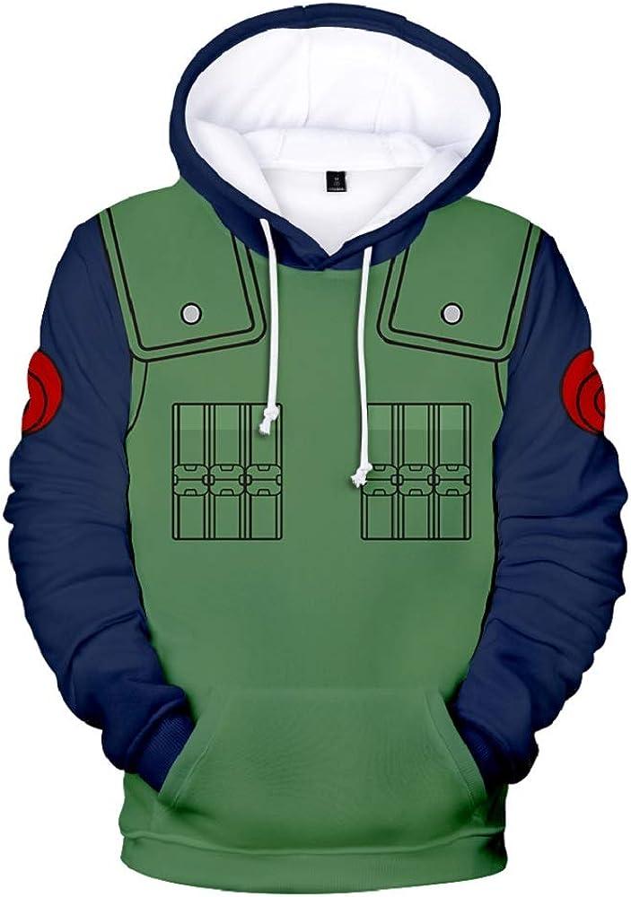 NUOHUX Mens 3D Hoodies Pullover Naruto Print Pattern Fashion Sweatshirt Sportswear