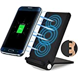 3 Coil Qi Wireless Charger Pad, Foldable Inductive Phone Charger Station Powermat for iPhone X/8/8 Plus, Samsung Galaxy S8 / S7 / S7 Edge / S6 / S6 Edge/Note 5, Nokia Lumia, Google Nexus, LG and All
