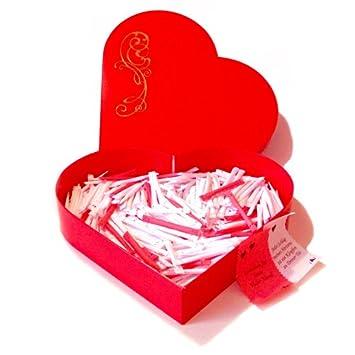 Valentinstag Geschenke: Love Heart Mit 365 Liebeslosen Für Ein Ganzes Jahr  (KEINE DOPPELTEN