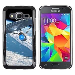 Be Good Phone Accessory // Dura Cáscara cubierta Protectora Caso Carcasa Funda de Protección para Samsung Galaxy Core Prime SM-G360 // Spaceship