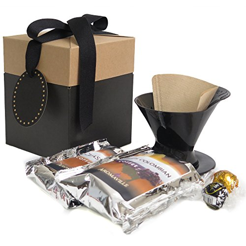 Coffee Gift Set with Melitta Pour Over Brewer - Coffee Gift Set - Coffee Lovers Gift - Coffee Gift Basket