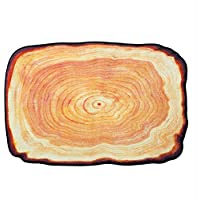 Ustide Washable Creative Tree Rug Tree-ring Pattern Design Home Decorative Door Mat Modern Durable Bedroom Floor Rugs 2x3