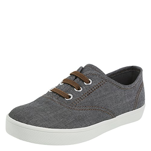 Zoe and Zac Boy's Chambray Grey Boys' Toddler Nolan Casual Little Kid Size 12 - Little Kid Size
