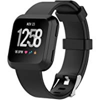 HEYUS Band Strap for Fitbit Versa 2 / Versa/Versa Lite, Classic Soft TPU Silicone Adjustable Replacement Bands Fitness Quick Release Sport Bracelet Strap for Fitbit Versa/Lite Tracker