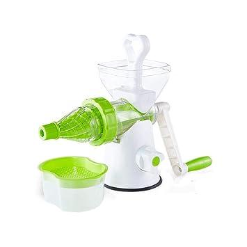 Licuadoras para Verduras y Frutas, exprimidor Manual Jarra y Limpieza Fácil con Cepillos zumos Verdes, Máquina de zumos para niños: Amazon.es
