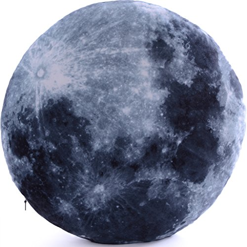Vercart (TM) - 3D Analog Moon Pattern Style Decorative Throw Pillow Creative Home Decoration Cushion 18''x18'' by VERCART