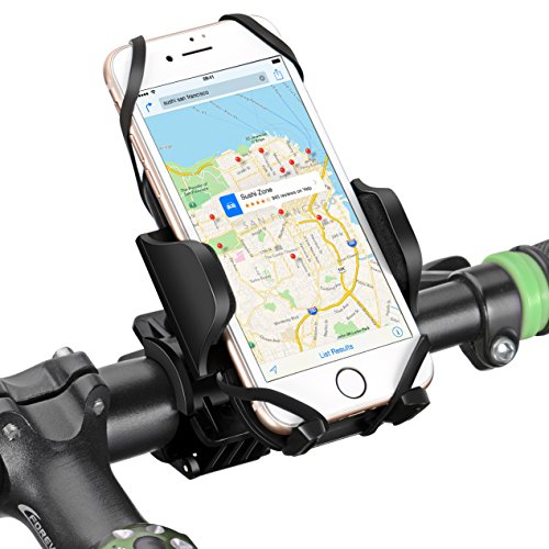 Bike Phone Mount, Mpow Universal Phone Holder & Motorcycle Phone Mount Holder for iPhone8 7 7 Plus 6 6s Plus 5 5s Galaxy S4 S5 S6 Edge Note 5 and GPS Device with 360 Degrees Rotatable
