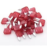 uxcell® Car Small Size Blade Fuse 10A Red Auto Fuses 30Pcs