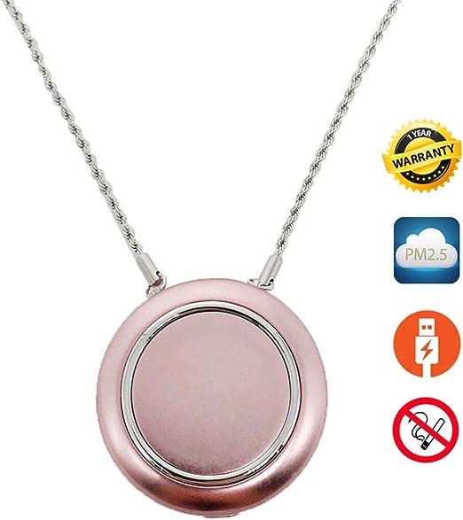 WANG El purificador de Aire/el Collar usable Personal del purificador de Aire/el eliminador del Olor/Quita Humo/los niños Adultos de Poco Ruido (Color : C): Amazon.es: Hogar