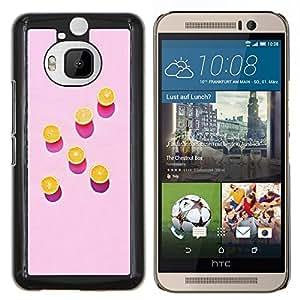 Stuss Case / Funda Carcasa protectora - Arte Naranja Rosa Pintura Patrón Profundo - HTC One M9+ M9 Plus