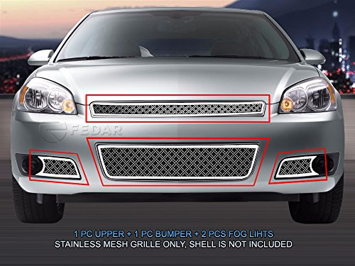(Fedar Dual Weave Mesh Grille for 2006-2013 Chevy Impala)