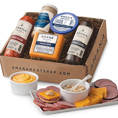 Gourmet Foods, Meat and/or Cheese, Amana Dutch Lunch, Light-Smoked Summer Sausage 14 oz. Double-Smoked Summer Sausage Cheddar Cheese Cheddar Cheese Spread Amana Horseradish
