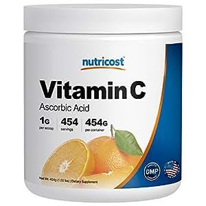 Nutricost Pure Ascorbic Acid Powder (Vitamin C) 1LB
